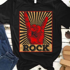 Premium Vintage Rock N Roll Hand Sign shirt