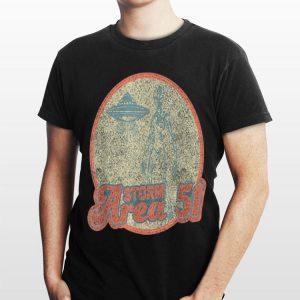 Retro Alien Storm Area 51 Women Men shirt