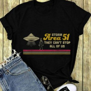 Storm Area 51 They Can't Stop All Of Us UFO Alien long sleeve