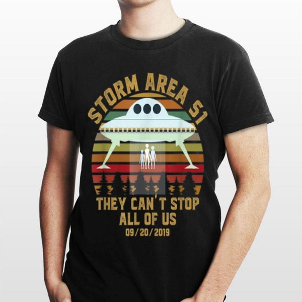 Storm Area 51 They Can't Stop All Of Us Vintage Alien Family shirt