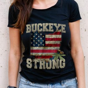 The Best Buckeye Strong Ohio American Flag shirt
