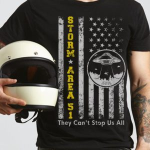 The Best Storm Area 51 Shirt They Can't Stop All of Us UFO American Flag shirt 2