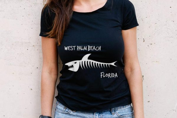 The Best West Palm Beach Florida Shark Skeleton shirt