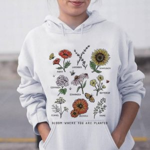 The best trend Bloom Where Youre Planted Botanical Flower shirt 2