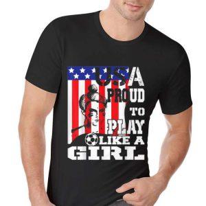 USA Proud To Play Like A Girl Women Soccer American Flag hoodie