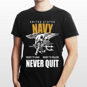 Us Navy Never Quit Proud Seals Team shirt