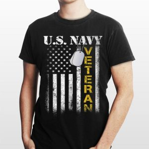 Us Navy Veteran Vintage American Flag shirt