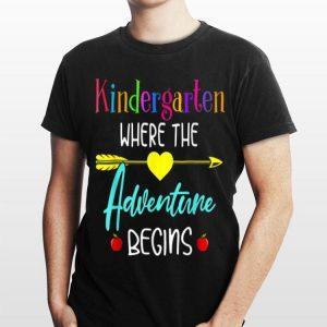 Where The Adventure Begins Teachers Kindergarten shirt