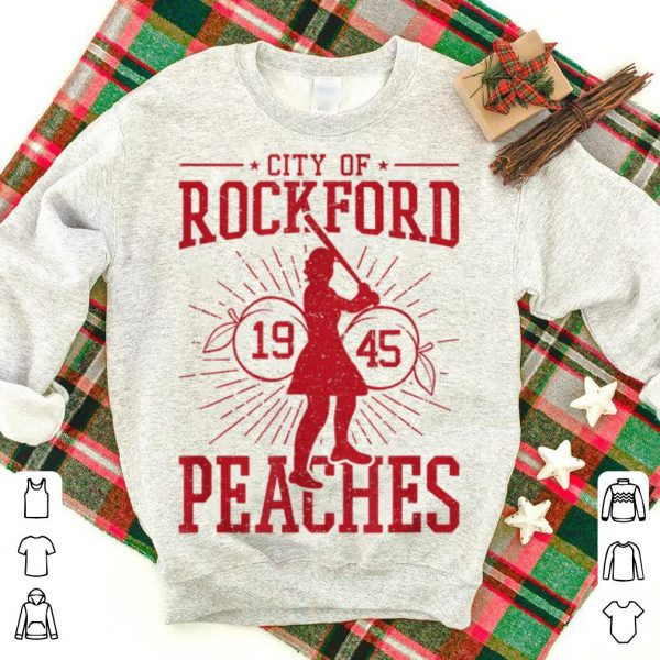 Wonderful Baseball Girl City Of Rock Ford 1945 Peaches shirt