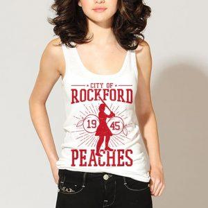 Wonderful Baseball Girl City Of Rock Ford 1945 Peaches shirt 2
