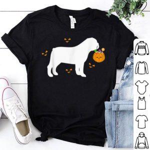 Original Bulldog Halloween Costume Outfit Pumpkin Dog Cute Pet shirt