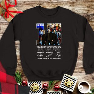 15 Years Of Supernatural Thank For The Memories Signature sweater