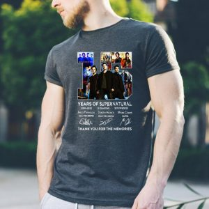 15 Years Of Supernatural Thank For The Memories Signature sweater 2