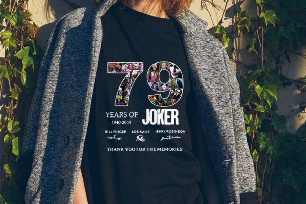 79 Years Of Joker Thank You For The Memories Signature sweater