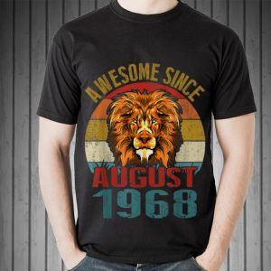 Awesome Awesome Since August 1968 Lion Vintage shirt 1