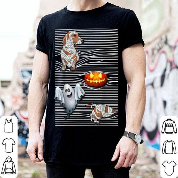 Awesome Dachshund Dog Mummy And Pumpkin Happy Halloween shirt