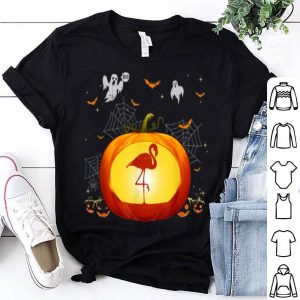 Awesome Flamingo Halloween Pumpkin Costume Cute Outfit Gift shirt