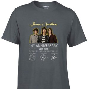 Awesome Jonas Brothers 14th Anniversary 2005-2019 With Signature shirt