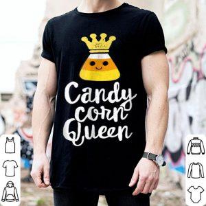 Funny Candy Corn Queen Cute Halloween Kawaii Crown shirt