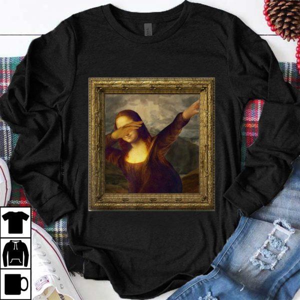 Funny Dabbing Mona Lisa Painting shirt