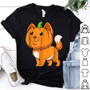 Funny Halloween Cat Gift Cute Kitten Pumpkin Cat Lover shirt