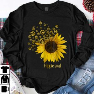 Funny Hippie Soul Sunflower Peace shirt