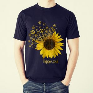 Funny Hippie Soul Sunflower Peace shirt 1
