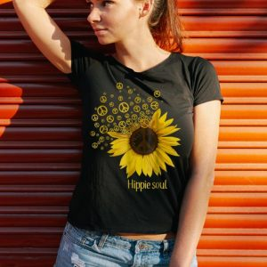 Funny Hippie Soul Sunflower Peace shirt 2