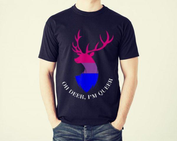 Funny Oh Deer I'm Queer LGBT Bisexual Pride shirt