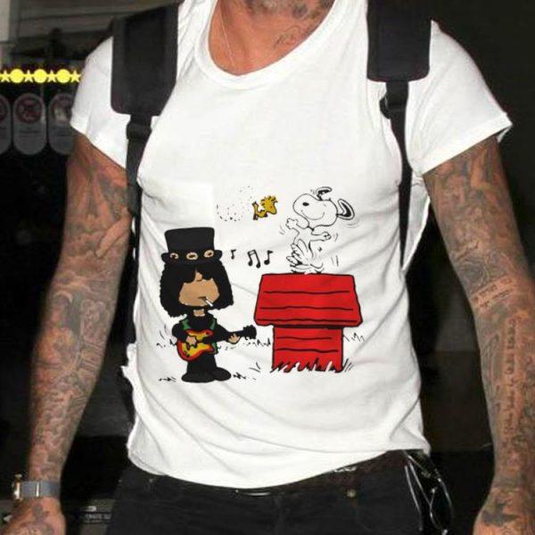 Funny Slash Guns N' Roses Snoopy And Woodstock shirt