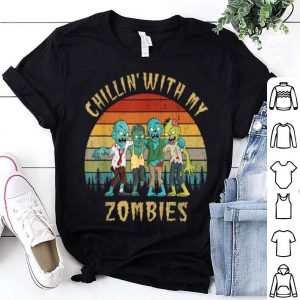FunnyChillin With My Zombies Halloween Vintage shirt