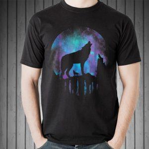 Howling Wolf Galaxy Moon sweater