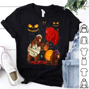 Nice Bear Happy Halloween Cute Mummy Witch Pumpkin shirt