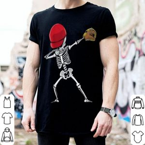Nice Skeleton Baseball Player Dabbing Gifts For Kids - Halloween shirt