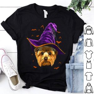 Nice Yorkshire Terrier Witch Funny Halloween Gifts Dog Lover T-Shirt shirt