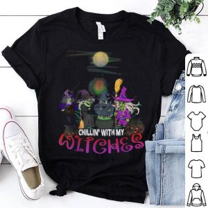 Original Chillin With My Witches Funny Halloween Costume Gift shirt