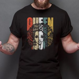 Top Vintage African American Queen Educated Strong shirt