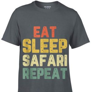 Top Vintage Eat Sleep Safari Repeat guy tee