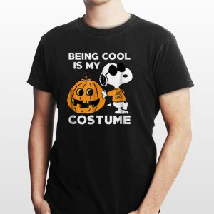 Awesome Being Cool Is My Costume Snoopy Pumpkin shirt