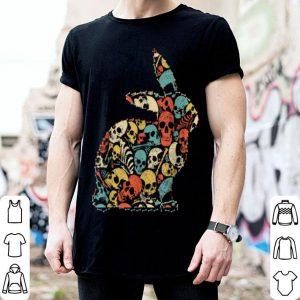 Awesome Rabbit Halloween Skeleton Skull Vintage Retro shirt