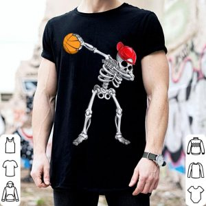 Awesome Skeleton Dabbing Basketball Halloween Costume Gift shirt
