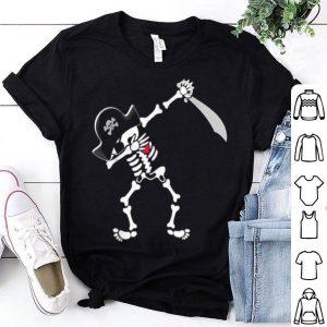 Dabbing Pirate Skeleton Halloween shirt