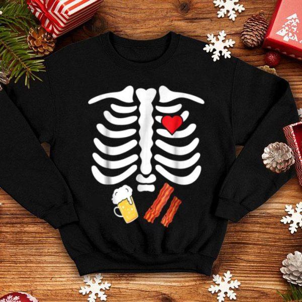 Halloween Skeleton Junk Food Belly Bacon Beer shirt