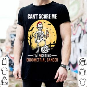 Hot Can't Scare Me- Endometrial Cancer Supporter Halloween shirt
