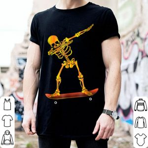 Hot Dabbing Halloween Skeleton On A Skateboard shirt