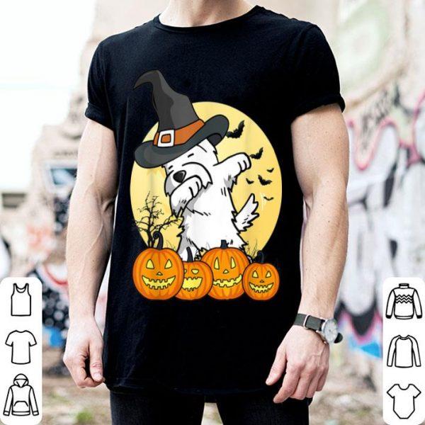 Hot Dabbing Westie Dab Dance Funny Dog Halloween Gift shirt