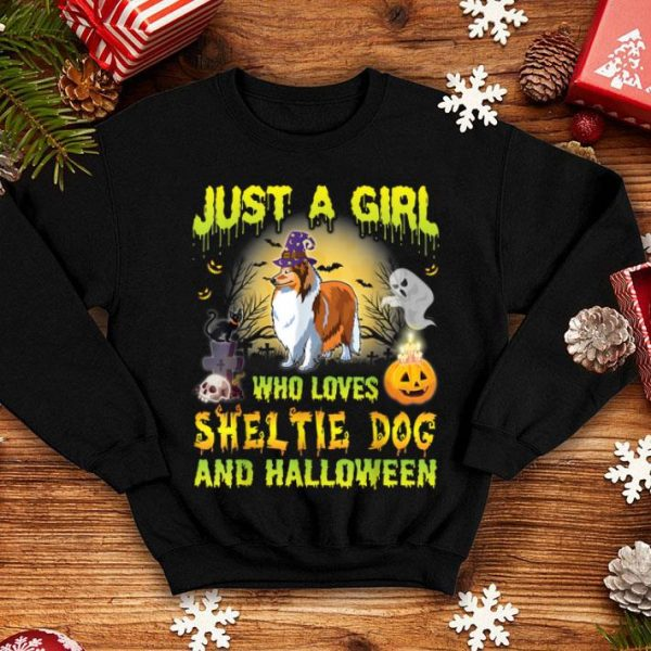 Hot Dog Witch Just A Girl Who Loves Sheltie And Halloween shirt