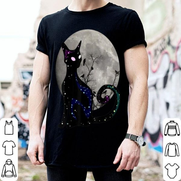 Hot Halloween Cat Scary Black Cat Gothic Looking Halloween Cat shirt