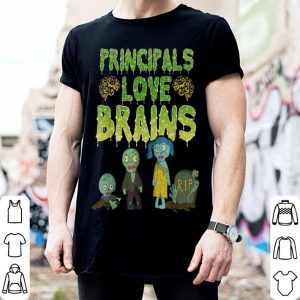Hot Principals Love Brains - Halloween Zombie shirt