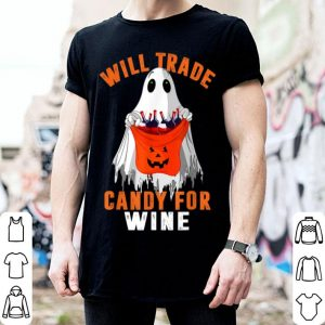 Hot Will Trade Candy for Wine Ghost Boo Wine Halloween Costume shirt